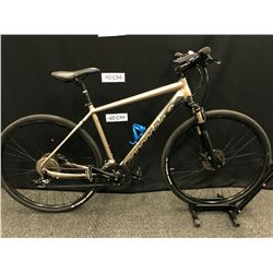 BROWN CANNONDALE QUICK CX 27 SPEED FRONT SUSPENSION TRAIL BIKE WITH FRONT AND REAR HYDRAULIC DISC