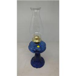 COBALT BLUE COAL OIL LAMP