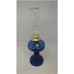 COBALT BLUE COAL OIL LAMP