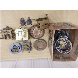 antique clock parts and movements