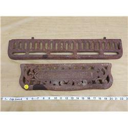 Cast iron stove pieces