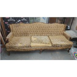 SOFA AND CHAIR (FRENCH PROVINCIAL FOR REUPHOLSTERING)
