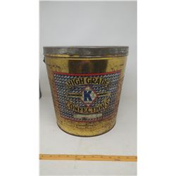 CANDY PAIL- HIGH GRADE DIAMOND BRAND CONFECTIONS, KELLY CONFECTION CO. LTD VANCOUVER BC (12inch TALL