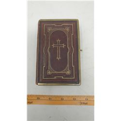 1877 GERMAN LEATHER BIBLE