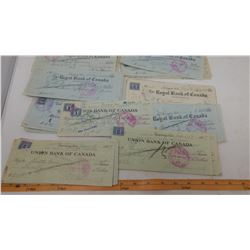 LOT OF CANCELLED CHEQUES