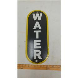 SERVICE STATION WATER PORCELAIN SIGN