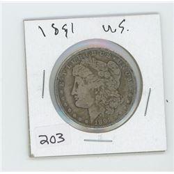 1891 USA ONE DOLLAR