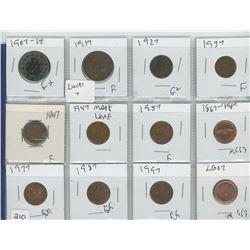 1907,1917  LARGE COINS(10) 1927,1937,ETC ASSOERTED PENNIES