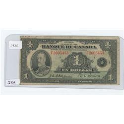 1935 BANQUE DU CANADA $1.00