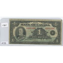 1935 BANK OF CANADA $1.00