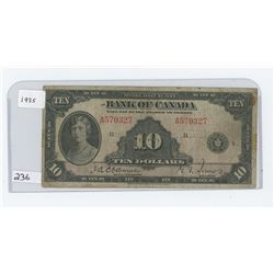 1935 BANK OF CANADA $10.00