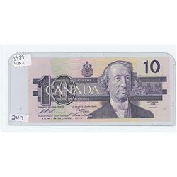 1989UNC CANADA $10.00