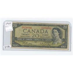 1954 CANADA $20.00