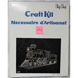 1976 ship shop string art kit 'Engine #9'
