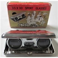 boxed Imperial oil Esso 3.5 X 30 sport glasses (made in Hong Kong)