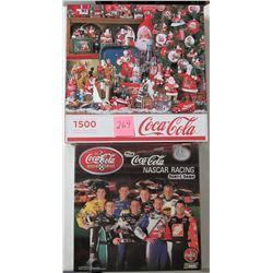 2013 Sprinbok 1500 piece Coca-Cola Christmas puzzle & new sealed 1st edition 2004 Coca-Cola NASCAR r