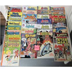 Lot of 29 comics 1970's - 1980's assorted Walt Disney, Archie, Jughead, super heroes