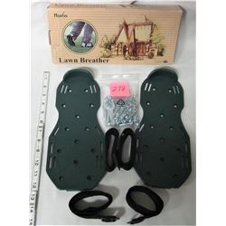 Boxed lawn aerator sandals