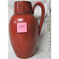 Sophia' original orange handled pottery vase