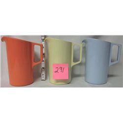 3 Melmac pitchers