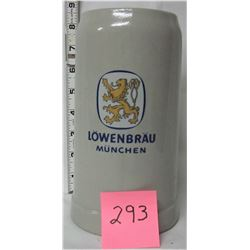 "1L stoneware/ceramic ""Lowenbrau Munchen"" stein"
