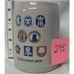 .5 West Germany Munchner Bier stoneware/ceramic mug stein