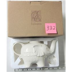 Avon expressions elephant teapot- boxed, new