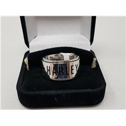 HARLEY DAVIDSON SPINNING BAND RING (STAINLESS STEEL, SIZE 9)