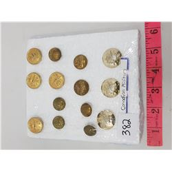 LOT OF 14 CANADIAN MILITARY BUTTONS