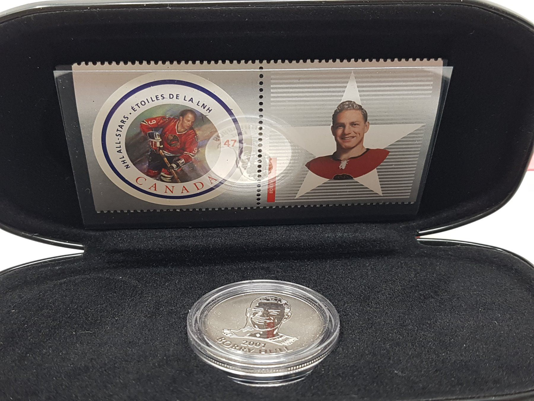 BOBBY HULL CANADA POST ALL-STAR STAMP /& MEDALLION SET