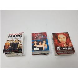 THREE COMPLETE CARD SETS (VERONICA MARS, CHARMED, WITCH BLADE)