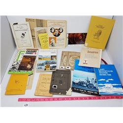 LOT OF PAMPHLETS/BOOKS