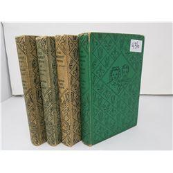 FOUR VINTAGE BOBBSEY TWINS BOOKS