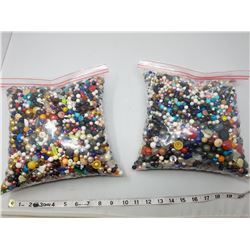 TWO LARGE BAGS OF BEADS