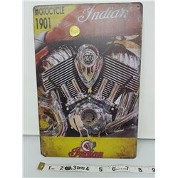 """Indian Motorcycle reproduction sign 11.5 X 8"""""""