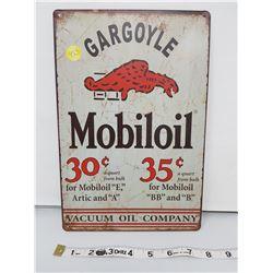 "Gargoyle Mobiloil reproduction sign 11.5 X 8"""