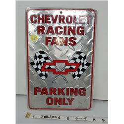 """Chevy parking only reproduction sign 11.5 X 8"""""""