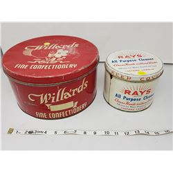 Willard and Rays cleaner - vintage tins