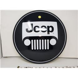 """Jeep reproduction button sign, 16"""""""