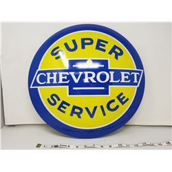 """Chevrolet reproduction button sign, 16"""""""