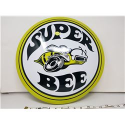 """Super Bee reproduction button sign, 16"""""""