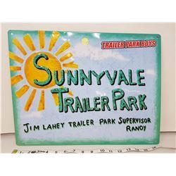 """Sunnyvale park sign, 17"""" long"""