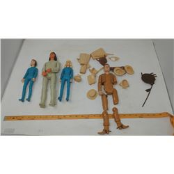 GROUP OF MARX COMPANY JOHNNY WEST DOLLS & ACCESSORIES (COWBOY, NATIVE, GIRLS - COWBOY BROKEN)