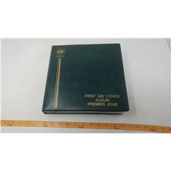 FIRST DAY STAMPS AND COLLECTIBLES BOOK - ROYALTY, BIRDS, BOATS, ARMY, PLANES, SPACE, RELIGIOUS