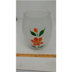GAY FAD FROSTED PAINTED COOKIE JAR OR VASE