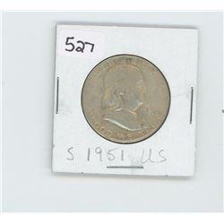 1951-S- US HALF DOLLAR