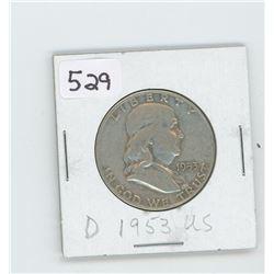 1953-D- US HALF DOLLAR