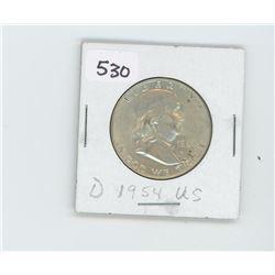 1954-D- US HALF DOLLAR