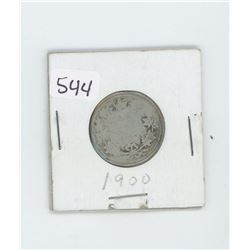 1900G4- CANADIAN SILVER 25 CENT