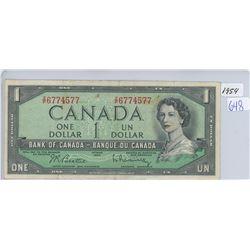 1954 ONE DOLLAR